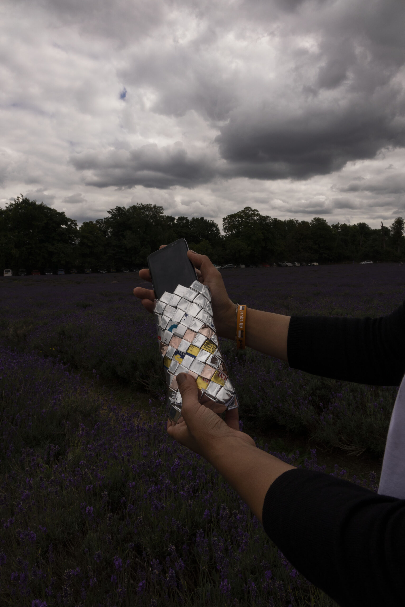 Recycled phone case lavender farm